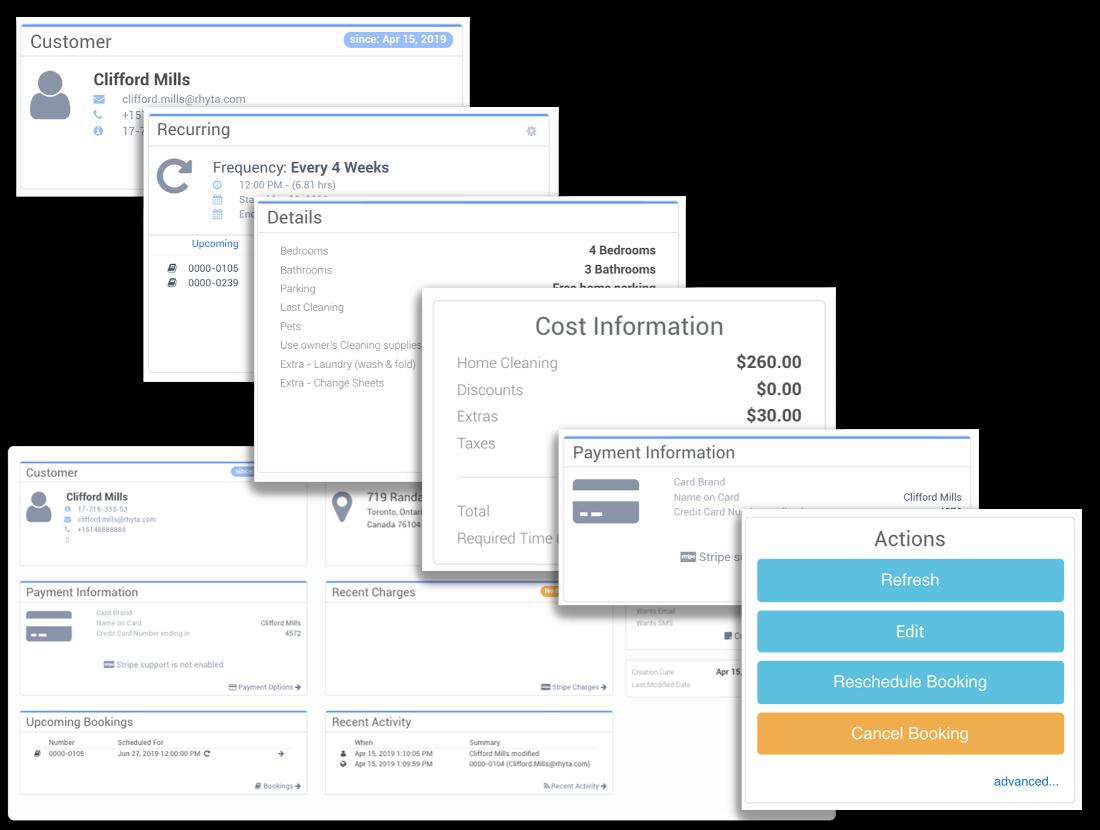 Customer booking profiles