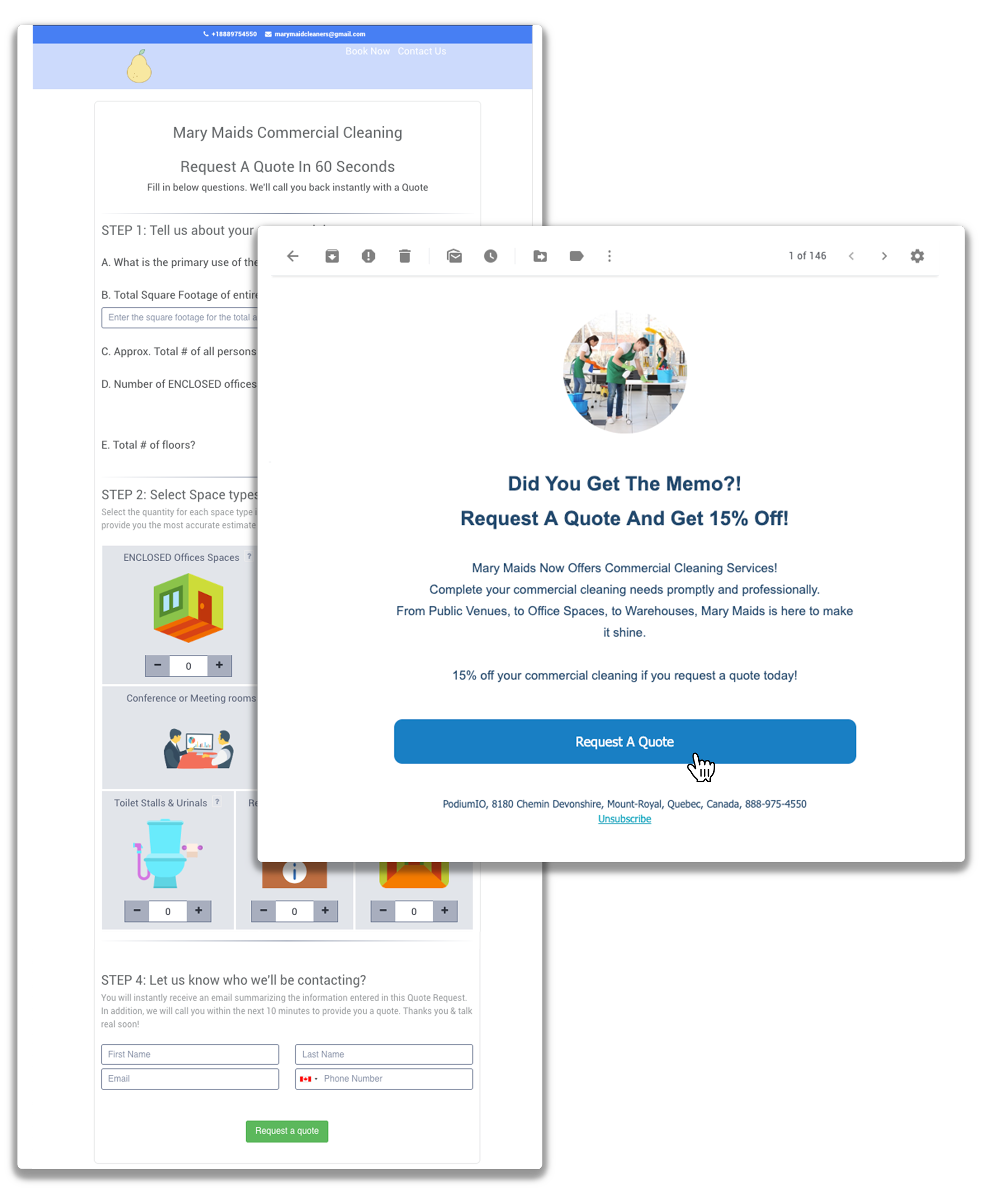 Request a quote - Email Marketing