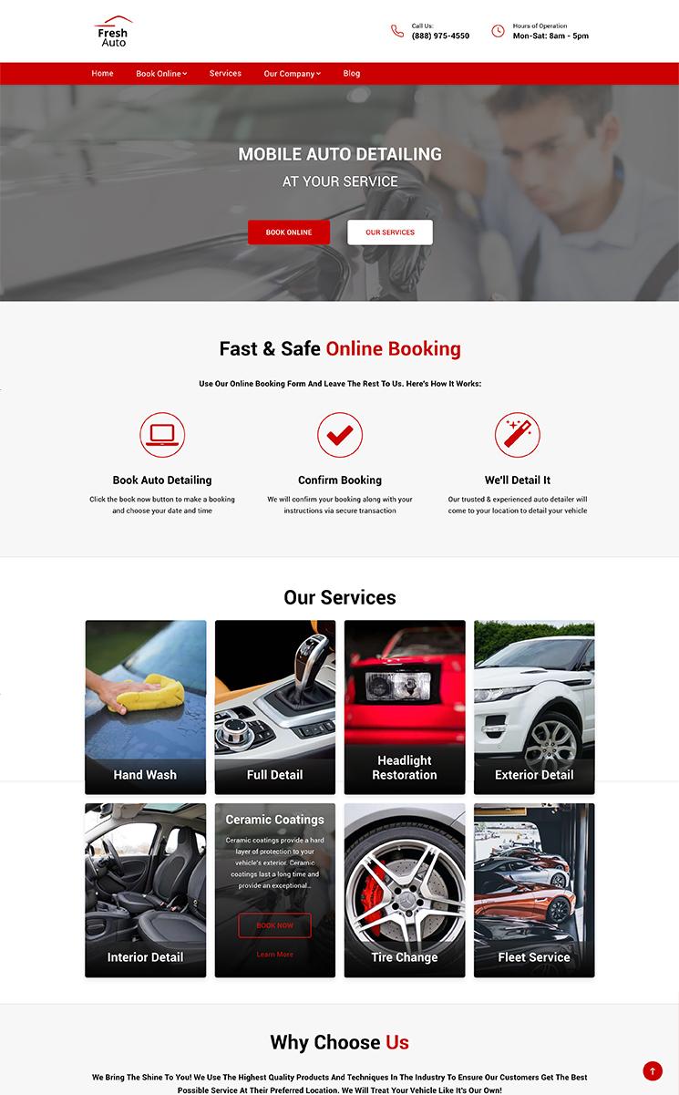 Auto Detailing website