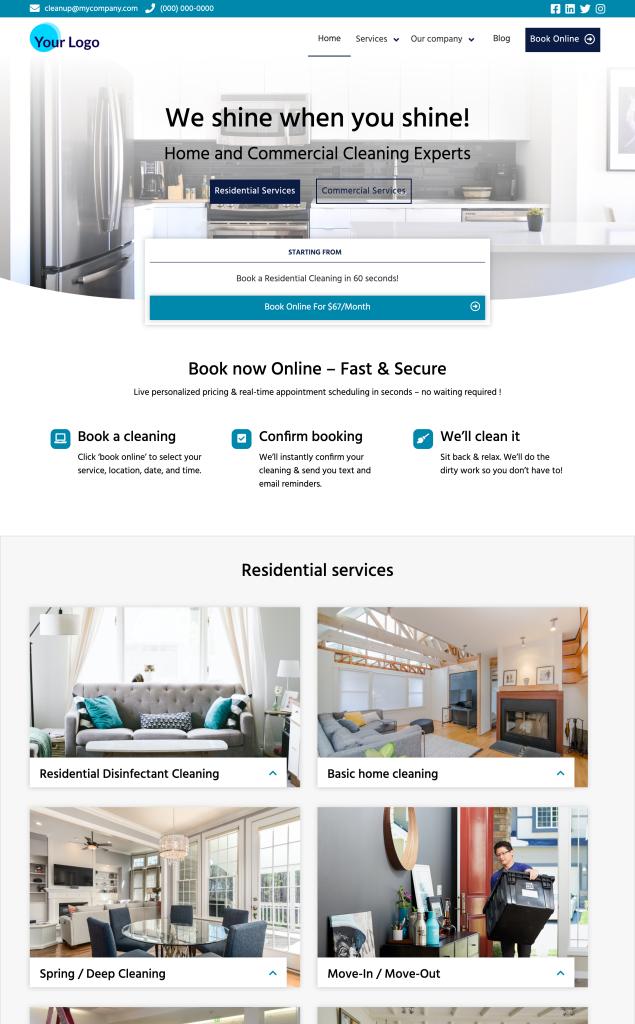 Cleaning Website Accelerator Premium