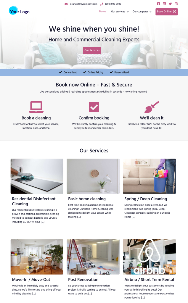 Cleaning Website Ace Standard