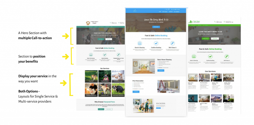 Home Cleaning Service Website Templates