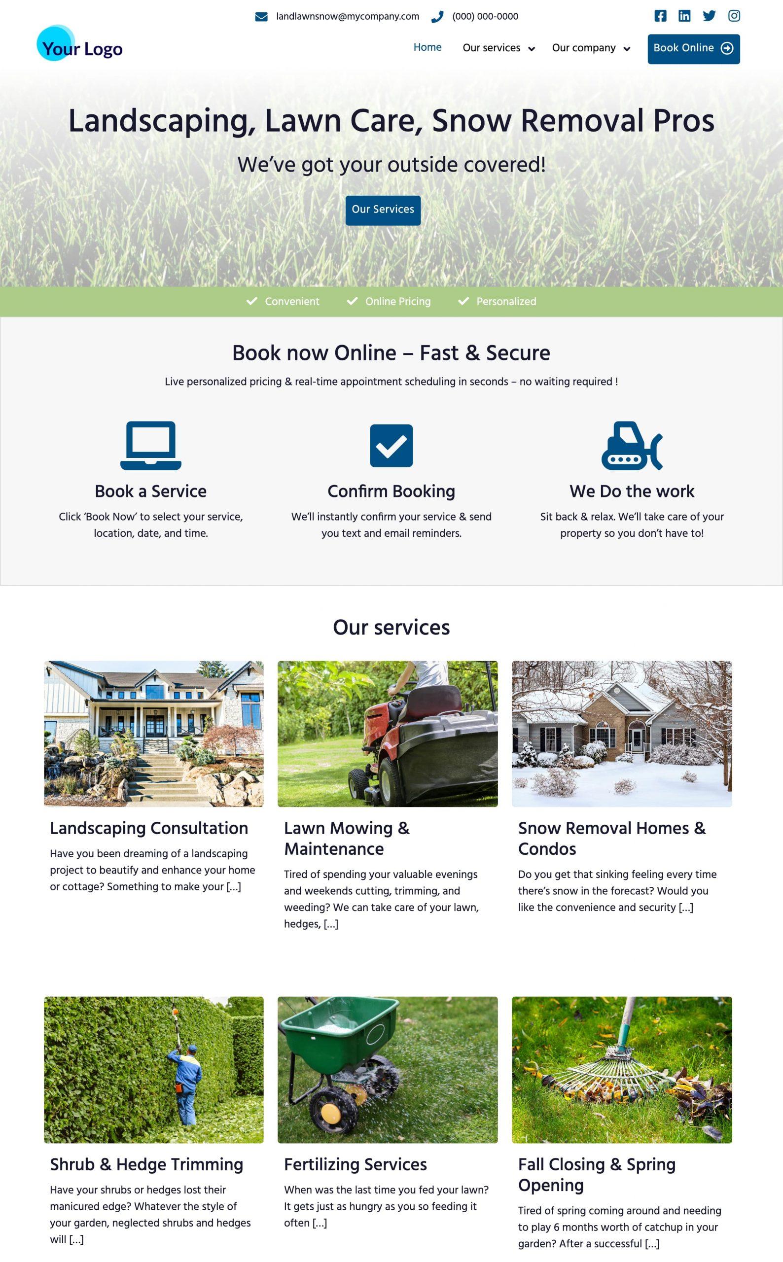 Landscaping Website